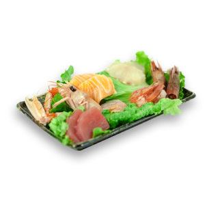 Sashimi Misto con crostacei